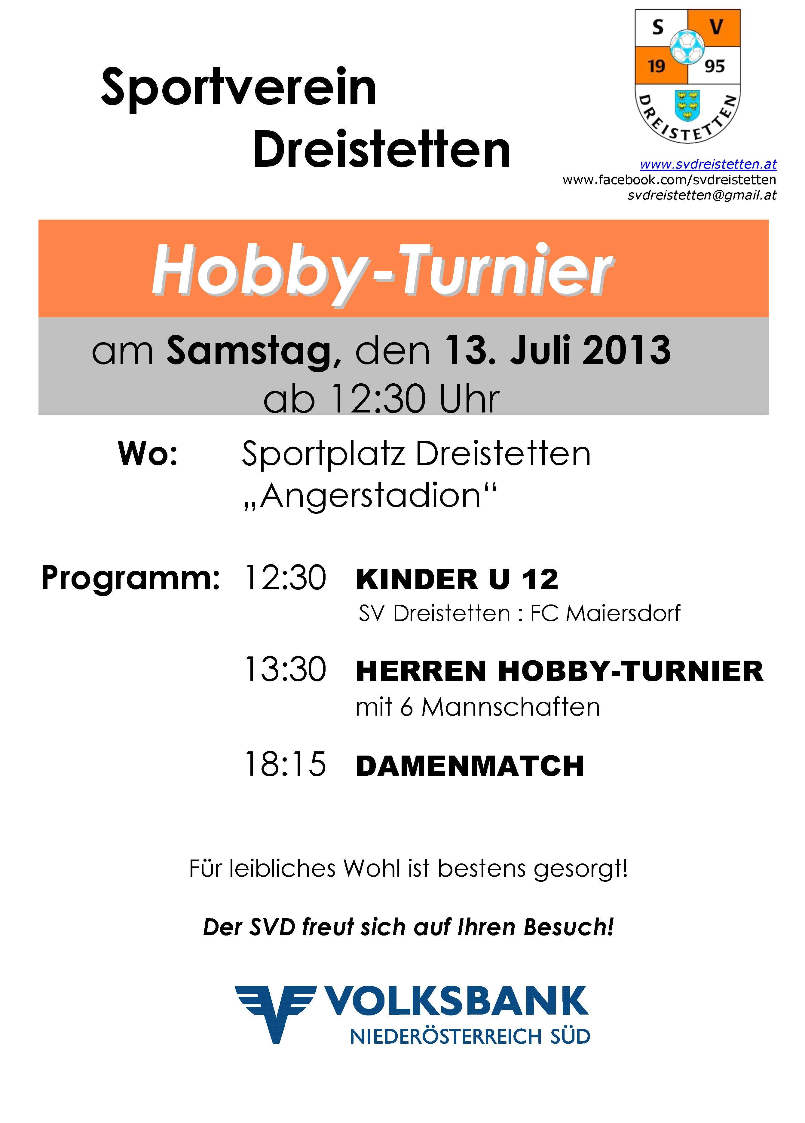 Herren Hobby-Turnier 2013